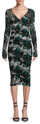 Diane von Furstenberg Mesh Overlay Midi Dress?