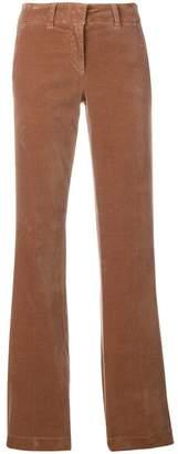 Luisa Cerano velvet flared trousers
