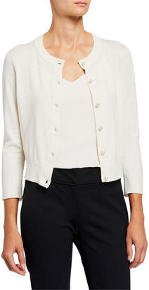 Kate Spade Cashmere-Blend Pearl Button Cropped Cardigan