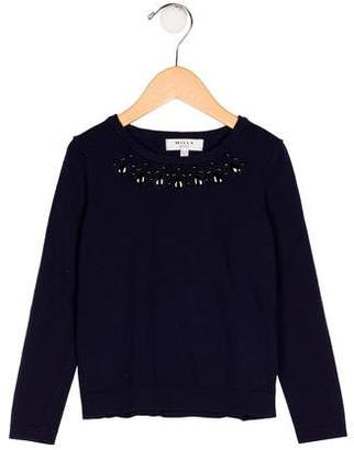 Milly Minis Girls' Long Sleeve Knit Sweater
