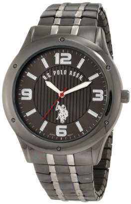 U.S. Polo Assn. Classic Men's USC80195 Horseman Round Case Gun-metal/Silver-tone Expansion Watch