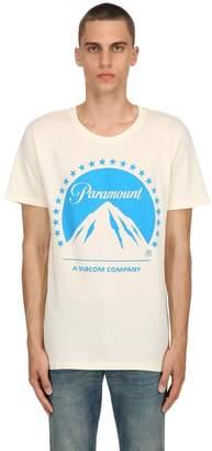 Gucci Paramount & Logo Print Jersey T-Shirt