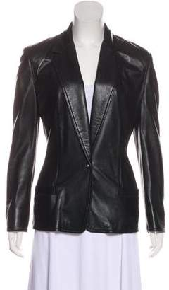 Gianni Versace Structured Leather Blazer