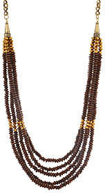 "Joan Rivers Classics Collection Joan Rivers Layered Wooden Bead 38"" Necklace w/3"" Extender"