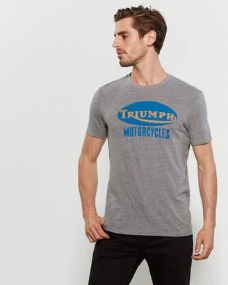Lucky Brand Triumph Motorcycles Short Sleeve Tee