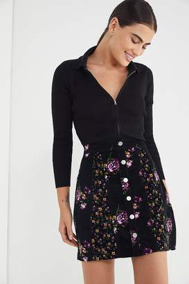 Urban Outfitters Logan Floral Button-Front Skirt