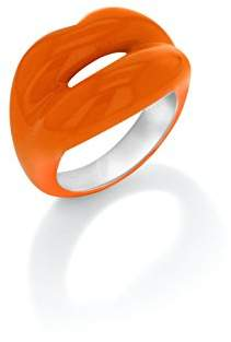 Solange Azagury-Partridge Hotlips Lacquered Sterling Silver Orange Ring