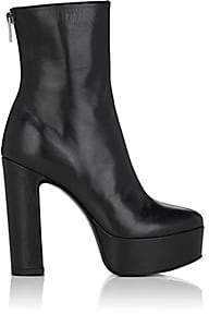 Barneys New York Women's Leather Platform Ankle Boots - Black