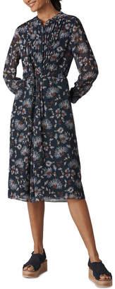 Whistles Pitti Print Midi Shirt Dress