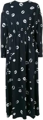 Sonia Rykiel lip print maxi dress