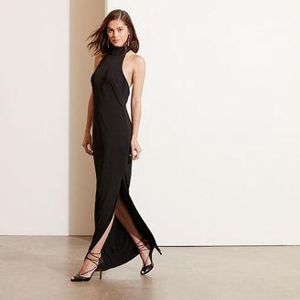 Ralph Lauren Jersey Mockneck Halter Gown $194 thestylecure.com