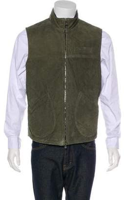 Isaia Quilted Suede Vest