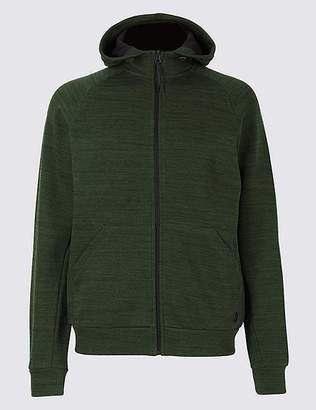 Marks and Spencer Active Cotton Rich Zip Through Hoody