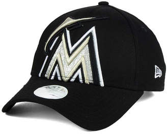 New Era Women's Miami Marlins Glitter Glam 9FORTY Strapback Cap