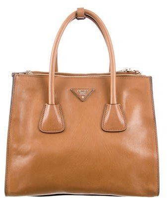 prada Prada Leather Twin Tote