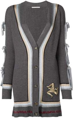 Marco De Vincenzo Trinacria patch cardigan