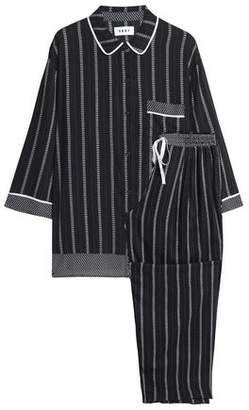 DKNY Striped Woven Pajama Set
