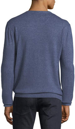 Report Collection Men's Melange Long-Sleeve Sweater