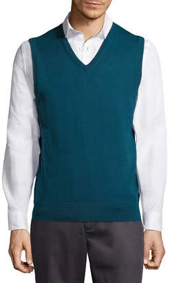 Claiborne Mens V Neck Sweater Vest