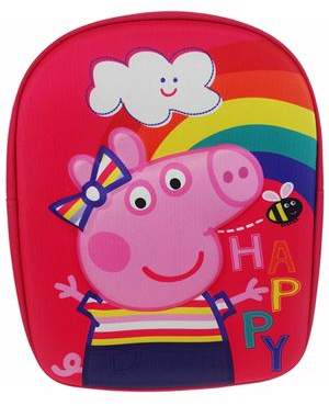 Peppa Pig 3D Pink Backpack One Size