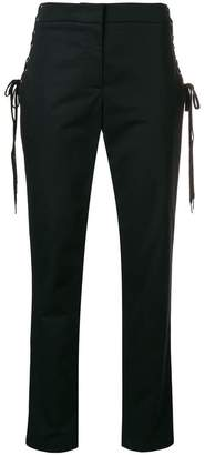 Moschino lateral drawstring tailored trousers