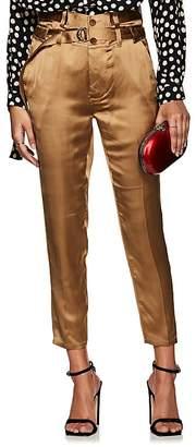Robert Rodriguez Women's Satin Slim Crop Pants