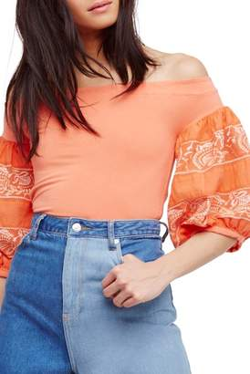 Urban Outfitters Rock With It Off-the-Shoulder Blouse