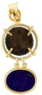 Tagliamonte Roman Coin & Venetian Pendant