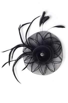 Quiz Black Jewel Spiral Fascinator