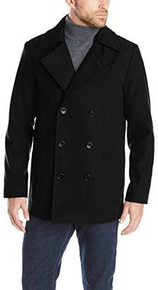 Haggar Men's Bedford Double-Breasted Peacoat