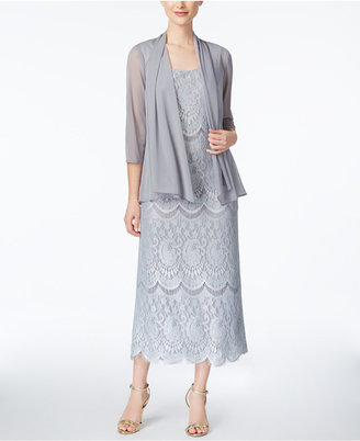 R & M Richards Lace Gown And Jacket $119 thestylecure.com