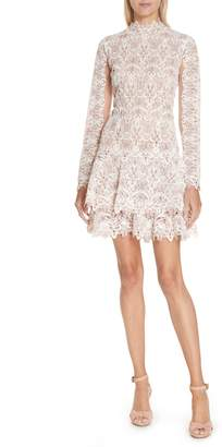 Jonathan Simkhai Guipure Lace Layer Hem Dress