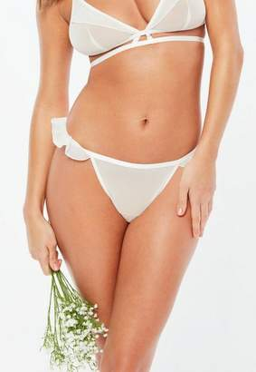 Missguided Bridal White Frill Side Thong