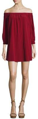 Alice + Olivia Desiree Off-the-Shoulder Tunic Dress $350 thestylecure.com