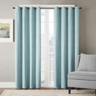 Madison Park 1-Panel Hayden Chevron Jacquard Window Curtain