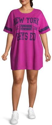Flirtitude New York Varsity Dress - Juniors Plus