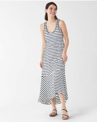 Splendid Linen Stripe Hi Low Dress