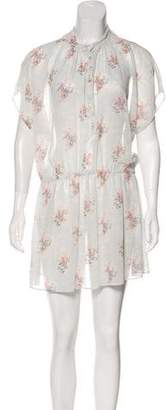Band Of Outsiders Floral Print Mini Dress