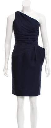 Versace One-Shoulder Pleated Dress