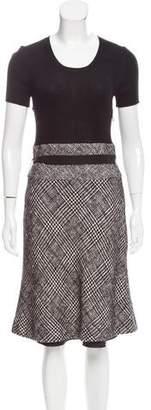 Paule Ka Wool-Blend Midi Dress