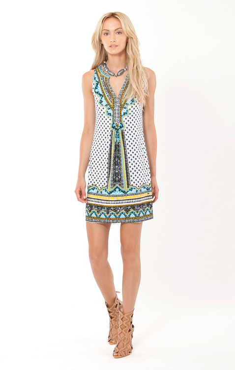 Hale Bob - Talia Jersey Dress in Ivory
