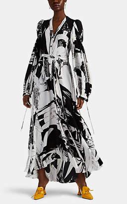 Loewe Women's Medusa-Print Shirtdress - Black