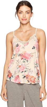 PJ Salvage Women's Rosy Outlook Lace Tank