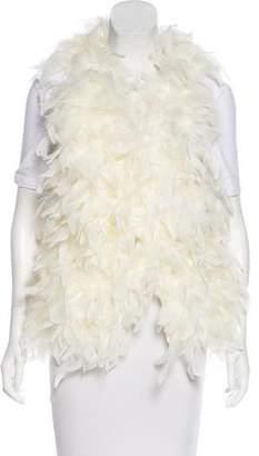 Alice + Olivia Feather Knit Vest
