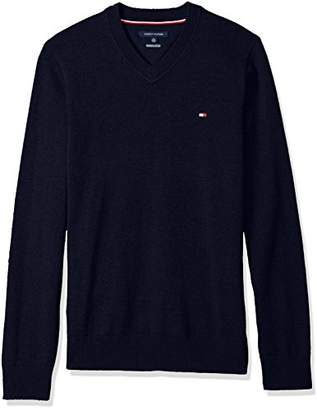 Tommy Hilfiger Men's Big & Tall Solid Long Sleeve Sweater