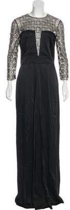 Temperley London Embellished Long Sleeve Gown