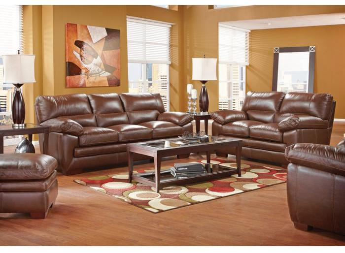 Argento Villa Brown 5 Pc Leather Living Room