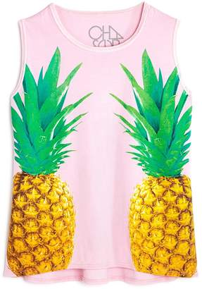 Chaser Girls' Pineapple Graphic Tank