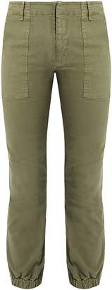Stretch-cotton military trousers