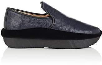 Giuseppe Zanotti Men's Leather & Velvet Slip-On Sneakers